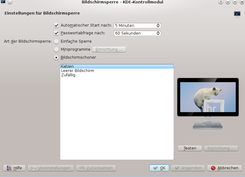 Play a movie as screensaver in KDE   Roland's Blog